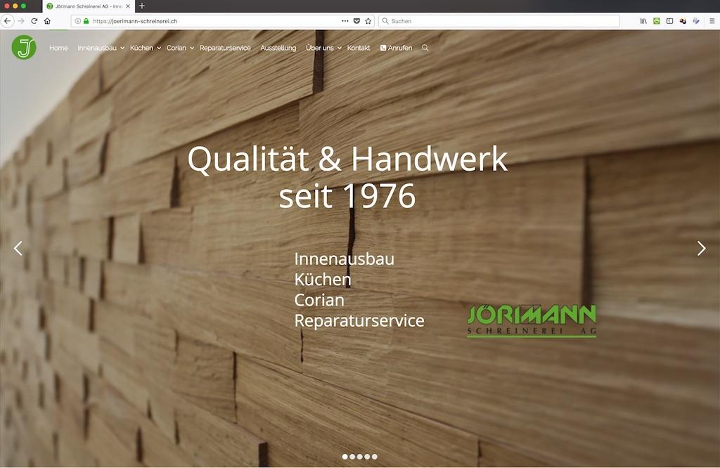 Jörimann Schreinerei - Mountain Projects - Digitalisierung