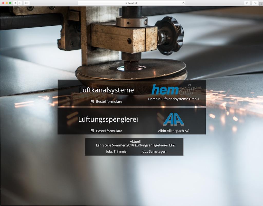 Mountain Projects - Digitalisierung - Hemair Luftkanalsysteme