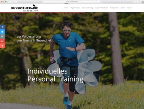 Physiotherapie am Tobelhof aus Zürich mit neuem Auftritt